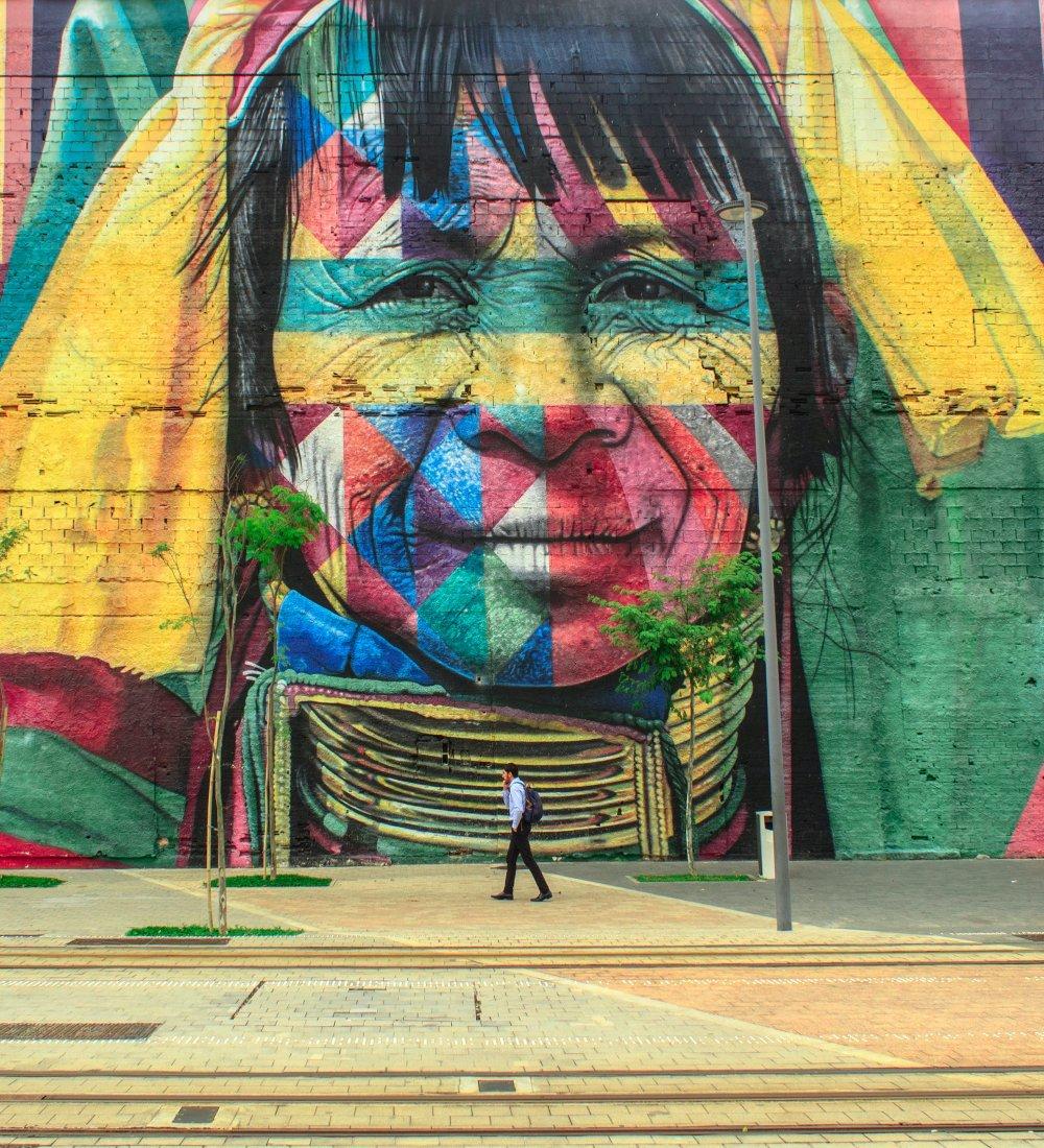 Anderson Guerra Vrouw Portret Kunst Aan De Muur